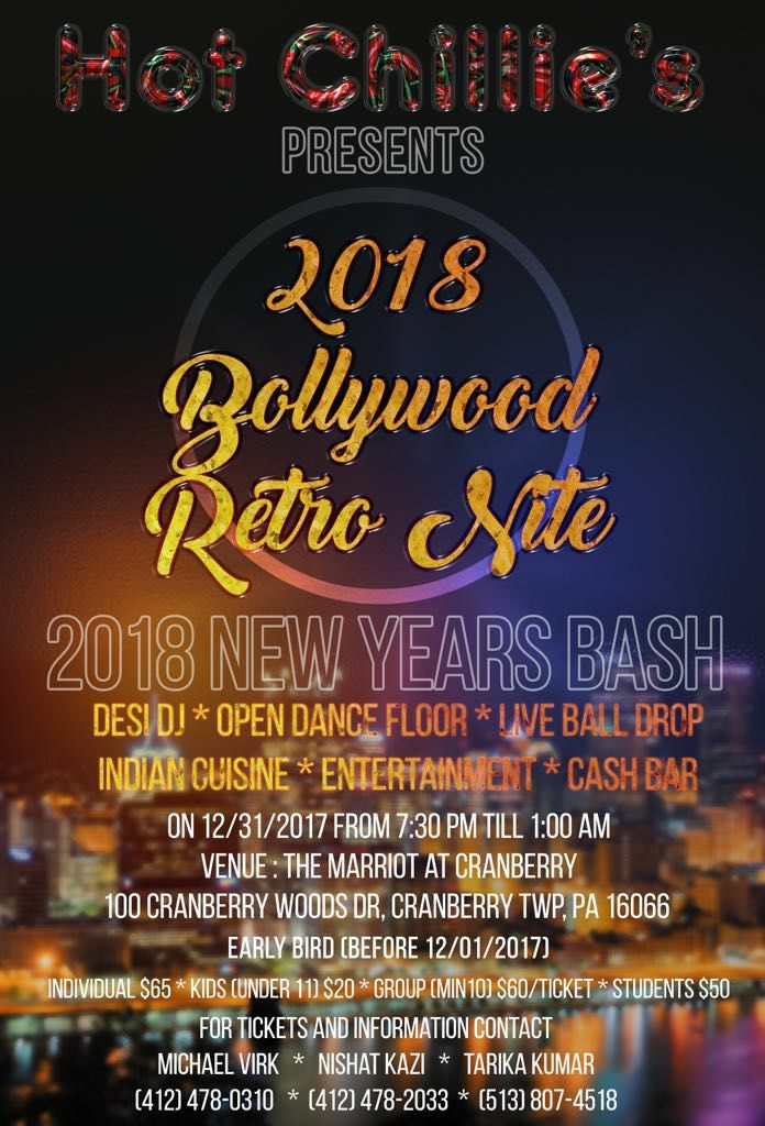 New Years Eve Gala Bollywood retro Nite