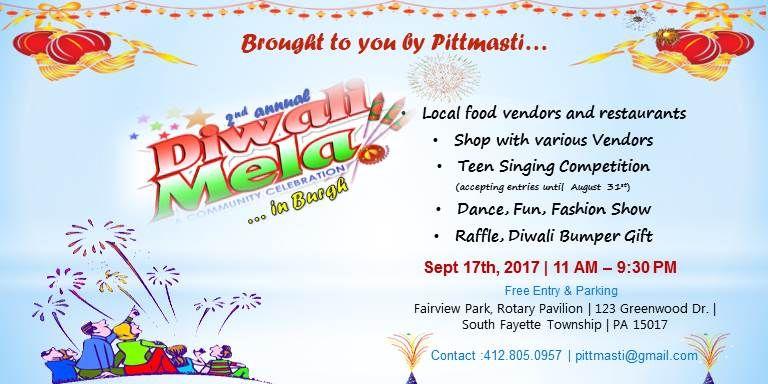 2nd Annual Diwali Mela 2017